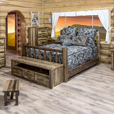 Homestead Panel Bed Finish: Stained and Lacquered, Size: Queen