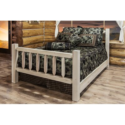 Abella Panel Bed Size: King, Color: Unfinished