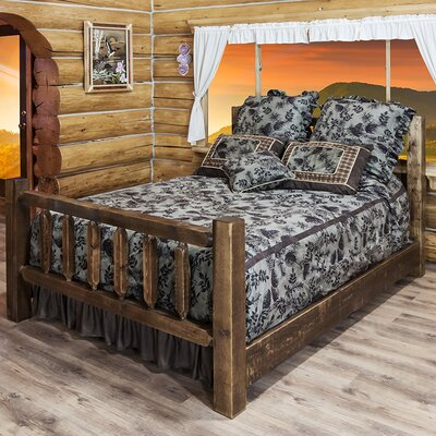 Abella Panel Bed Finish: Stained and Lacquered, Size: California King