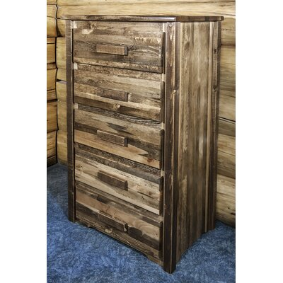 Homestead 5 Drawer Chest Finish: Lacquered and Stained