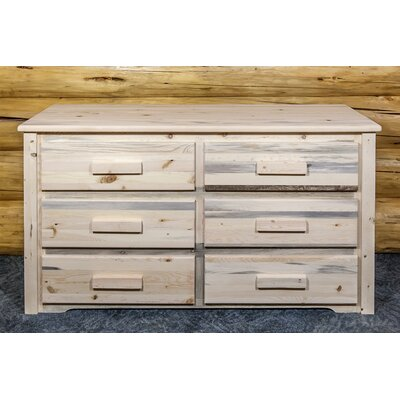 Abella 6 Drawer Double Dresser Color: Ready to Finish