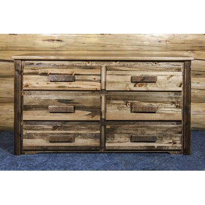 Abella 6 Drawer Double Dresser Color: Stained and Lacquered