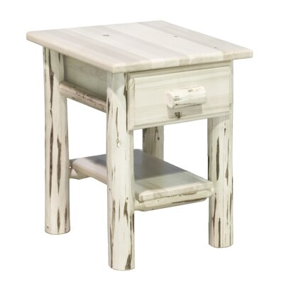 Montana 1 Drawer Nightstand Finish: Lacquered