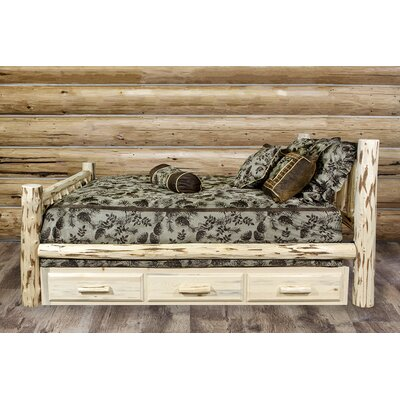 Abordale Storage Panel Bed Size: California King, Color: Ready to Finish