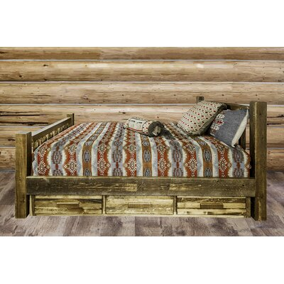 Abella Wood Storage Platform Bed Color: Clear Lacquer, Size: Full