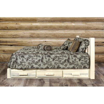 Abella Storage Platform Bed Size: King, Color: Clear Lacquer