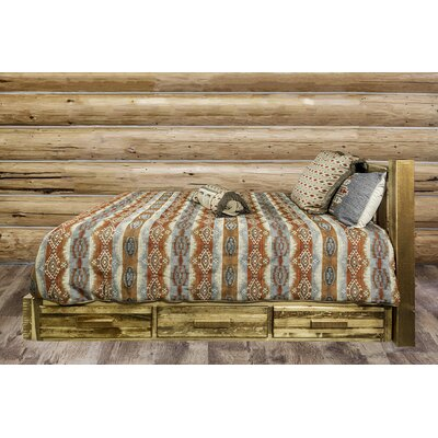 Homestead Storage Platform Bed Size: King, Finish: Stain and Lacquer