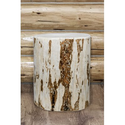 Abordale Cowboy Stump End Table Color: Clear Lacquer, Size: 18H x 12W x 12D