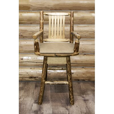 Tustin 30 Swivel Bar Stool Upholstery: Buckskin
