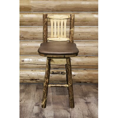 Tustin 30 Swivel Bar Stool Upholstery: Saddle