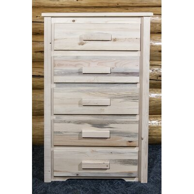 Homestead 5 Drawer Chest Finish: Unfinished