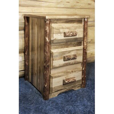 Tungsten 3 Drawer Nightstand
