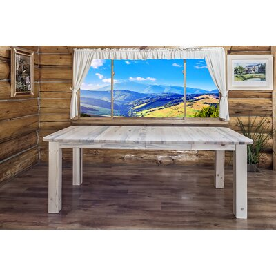 Homestead 4 Post Extendable Dining Table Finish: Clear Lacquer Finish