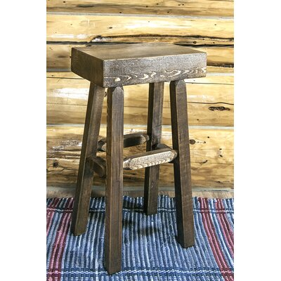 Abella 30 Pine Wood Bar Stool Finish: Stain & Lacquer Finish