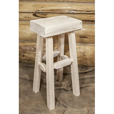 Abella 30 Pine Wood Bar Stool Finish: Clear Lacquer Finish