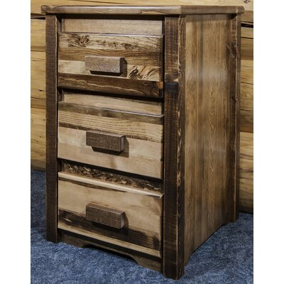 Abella 3 Drawer Nightstand Color: Stain/Lacquer