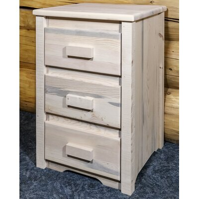 Abella 3 Drawer Nightstand Color: Clear Lacquer