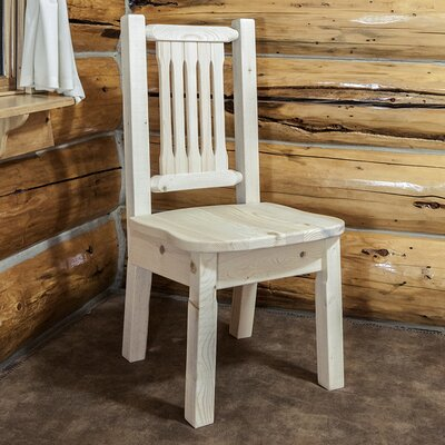 Abella Solid Wood Dining Chair Finish: Clear Lacquer Finish