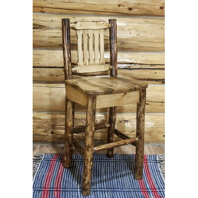 Tustin 30 inch Wooden Cabin Bar Stool