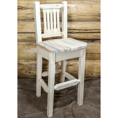 Abella 30 Square Bar Stool Finish: Clear Lacquer Finish