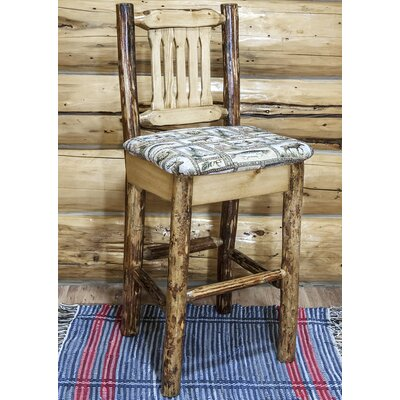Tustin 30 Cabin Bar Stool Upholstery: Wildlife