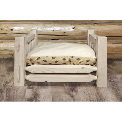 Homestead Rustic Pet Bed with Mattress Size: 44 x 34 x 23, Finish: Lacquered