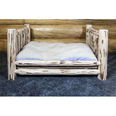 Montana Dog Furniture Style Size: Large (44 L x 34 W), Finish: Lacquered