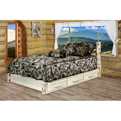 Abordale Storage Panel Bed Size: California King, Finish: Clear Lacquer