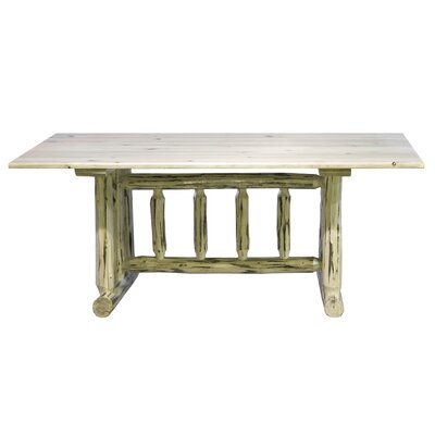 Abordale Trestle Dining Table Finish: Lacquered