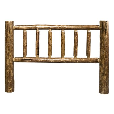 Tungsten Log Slat Headboard Size: Queen