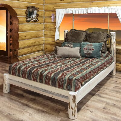 Abordale Platform Bed Color: Clear Lacquer, Size: Full