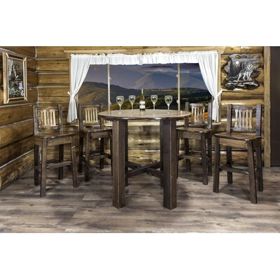 Homestead Bistro Table Finish: Stained and Lacquered, Size: 40 H x 45 W x 45 D