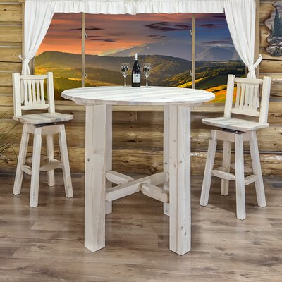 Abella Bistro Table Finish: Lacquered, Size: 40 H x 45 W x 45 D