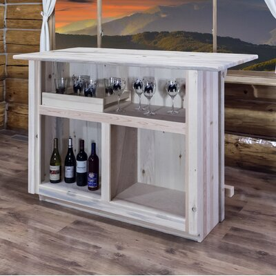 Abella Bar with Foot Rail Color: Lacquered