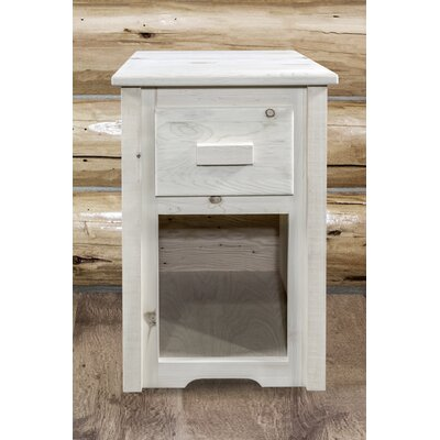 Abella Rustic End Table Finish: Clear Lacquer