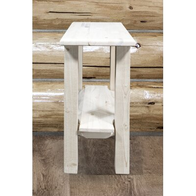 Abella Chairside Table Color: Clear Lacquer