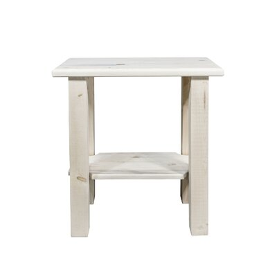 Homestead Chairside Table Finish: Clear Lacquer