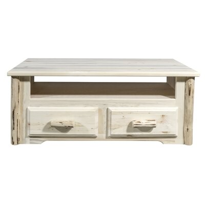 2 Drawer Media Chest Finish: Clear Lacquer