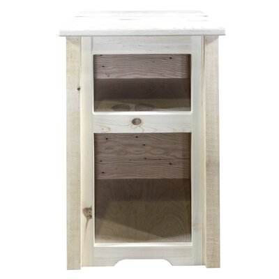 Abella Wood End Table Finish: Clear Lacquer