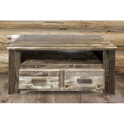 Abella Rustic Coffee Table Finish: Stain and Lacquer