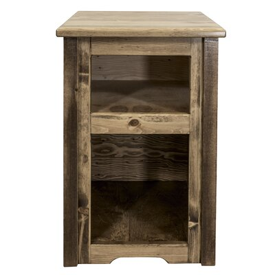Abella Wood End Table Color: Stain and Lacquer