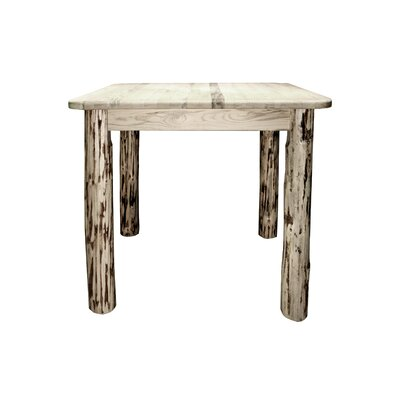 Montana 4 Post Dining Table Finish: Clear Lacquer Finish, Size: 36 inch H x 45 inch W x 45 inch D