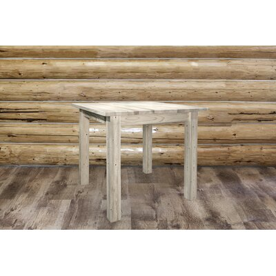 Abella Dining Table Finish: Clear Lacquer Finish, Size: 36 H x 45 W x 45 D