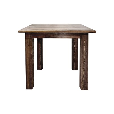 Homestead Dining Table Finish: Stain & Lacquer Finish, Size: 36 H x 45 W x 45 D