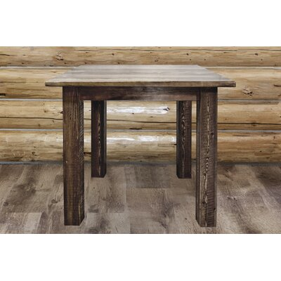 Abella Dining Table Finish: Stain & Lacquer Finish, Size: 36 H x 45 W x 45 D