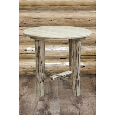 Abordale Round Dining Table Finish: Clear Lacquer Finish, Size: 36 H x 45 W x 45 D