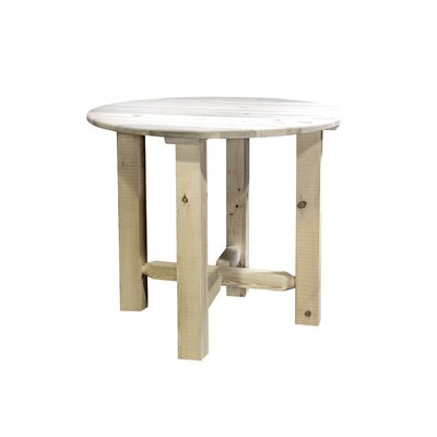 Abella Bistro Table Finish: Clear Lacquer Finish, Size: 36 H x 45 W x 45 D