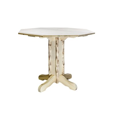 Montana Dining Table Finish: Clear Lacquer Finish, Size: 36 H x 45 W x 45 D
