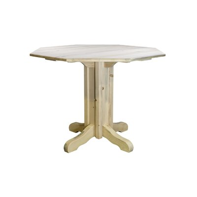 Abella Pub Table Color: Clear Lacquer Finish, Size: 36 H x 45 W x 45 D