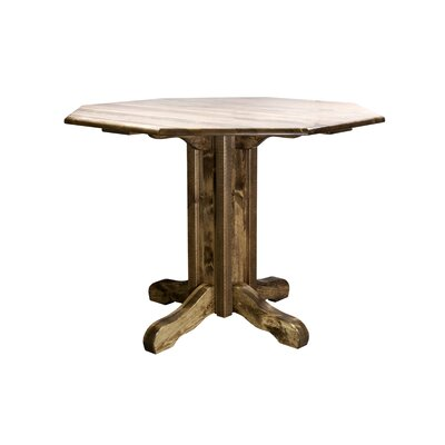 Abella Pub Table Color: Stain and Lacquer Finish, Size: 36 H x 45 W x 45 D